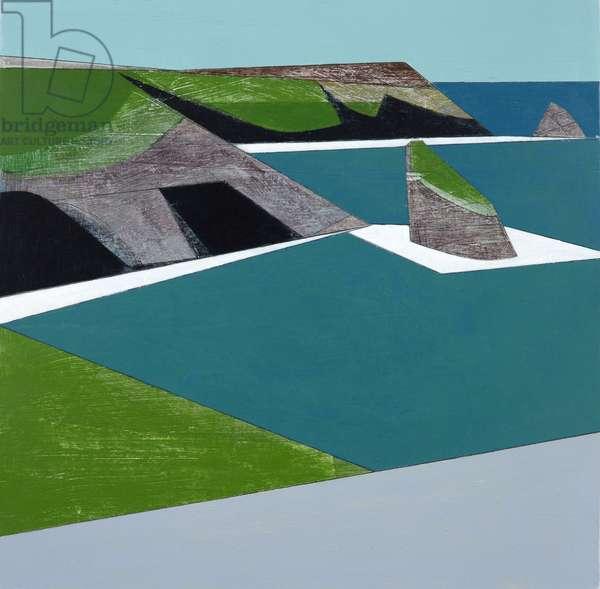 Islands 1, 2015 (acrylic on plywood)