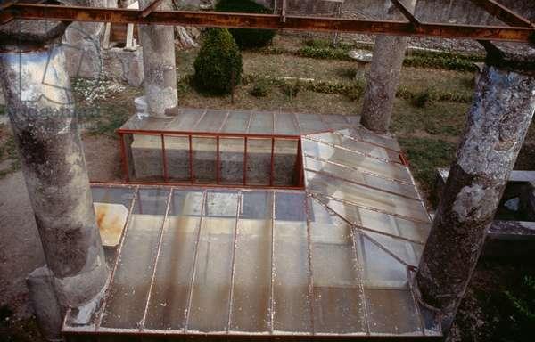 Summer triclinium in House of Ephebus, Pompeii (UNESCO World Heritage List, 1997), Campania, Italy, Roman civilization, 1st century AD