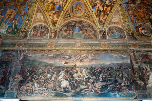 Battle of the Pons Milvius, from the Sala di Costantino (fresco)