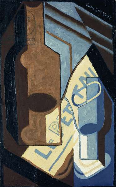 Bottle and Glass; Bouteille et Verre, 1921 (oil on canvas)