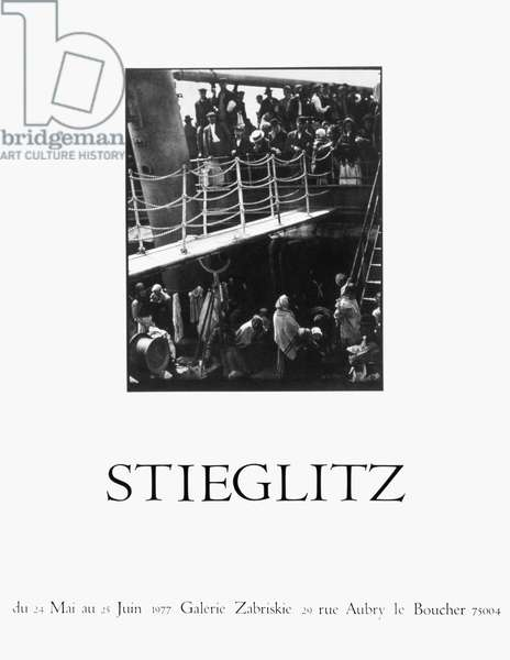 PARIS: STIEGLITZ POSTER French poster for an exhibition, 1977, of photographs by Alfred Stieglitz at Galerie Zabriskie, Paris.