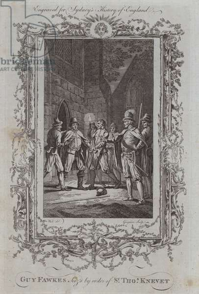 Guy Fawkes Seized by order of Sir Thomas Knevet (engraving)