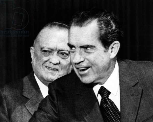 J. Edgar Hoover with President Richard M. Nixon, June 30, 1971.