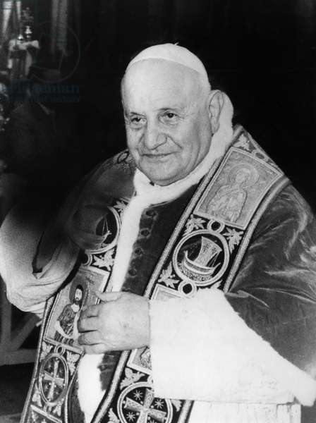 JOHN XXIII (1881-1963) Pope, 1958-1963. Photographed in 1961, while walking in St. Peter's Square in Rome.