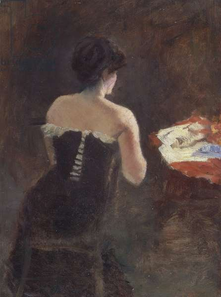 Back of a Lady, by Giuseppe de Nittis, 1882, oil on canvas