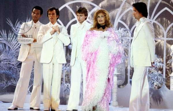 Singer Dalida during TV Programme October 1979 (photo)