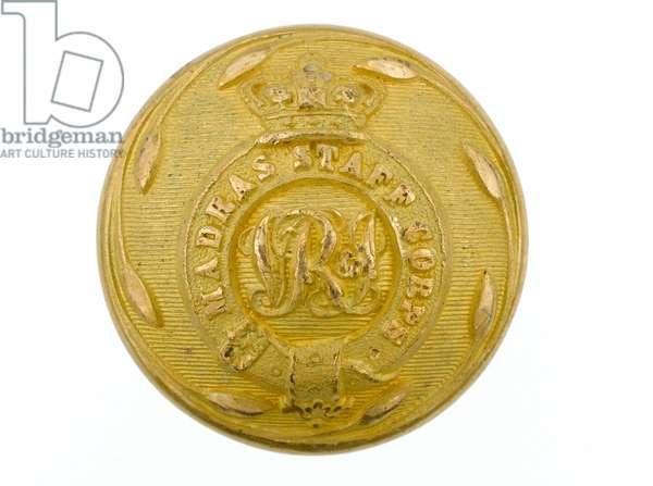Button, Madras Staff Corps, 1861-1876 (gilt)