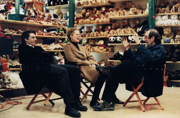 On The Set, Stanley Kubrick (Director) With Tom Cruise And Nicole Kidman.