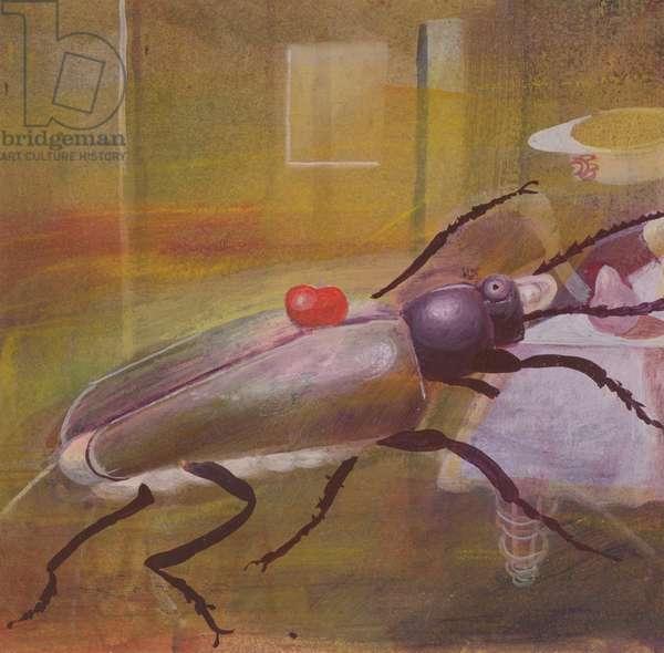 Metamorphosis, Kafka: Gregor's Father Attacks (oil on canvas)