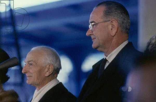 Antonio Segni on an official visit to the White House, Washington, United States