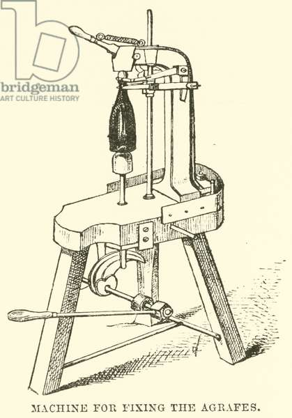 Machine for Fixing the Agrafes (engraving)