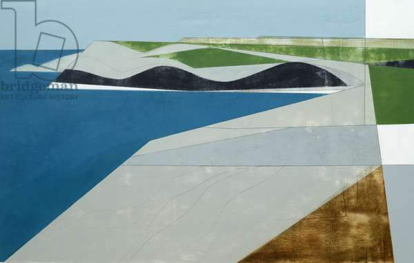 Field Edge 11 56 x 87 cm acrylic on plywood