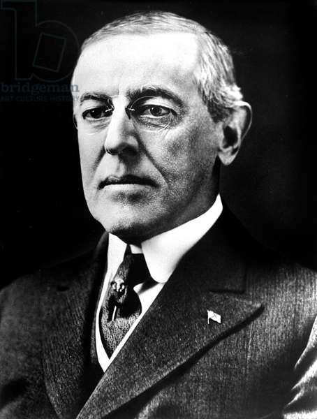 Woodrow Wilson (1856-1924) 28th American President in 1913-1921