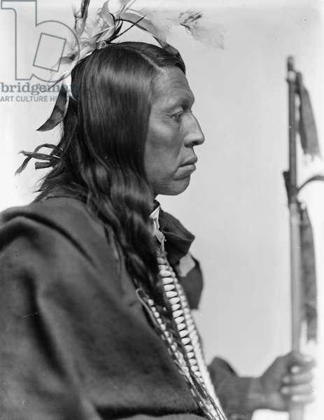 Sioux chief Flying Hawk, c.1900 (b/w photo)