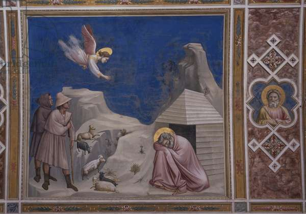Dream of Joachim (Sogno di Gioacchino), by Giotto, 1303-1305, 14th century (fresco)