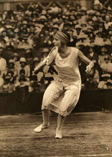 Suzanne Lenglen French tennis player 1899 1938 A won several times the French International and the Wimbledon tournament