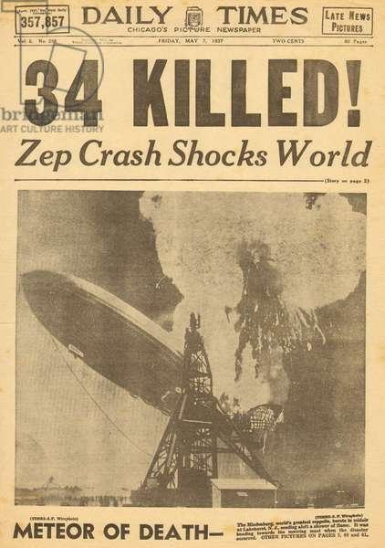 Hindenburg Zeppelin disaster
