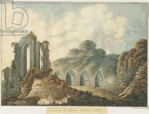 Croxden Abbey: water colour painting, 1837 (painting)