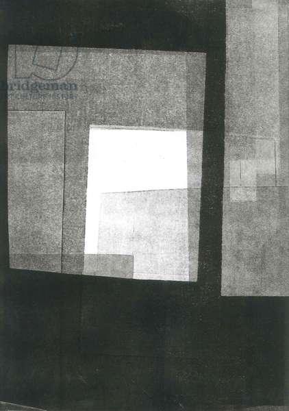 Nocturnus III, 2015, (monoprint on paper)