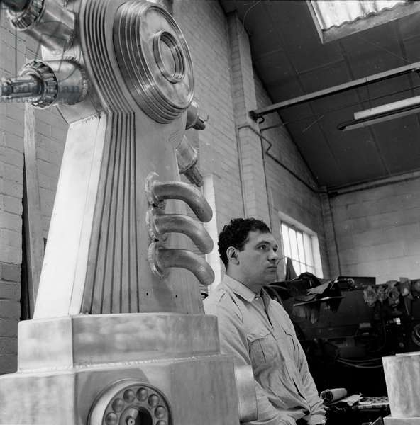 Eduardo Paolozzi, 1963 (b/w photo)