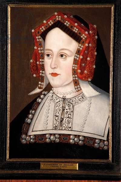 Catherine of Aragon (oil on oak panel)