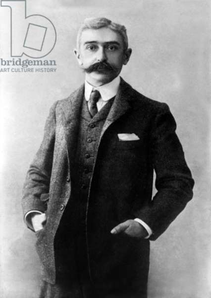 baron Pierre de Coubertin (1863-1937) French pedagogue and historian, best known as the modernizer of the Olympic Games as soon as 1894. He founded the International Olympic Committee (IOC) of which he was president in 1896-1925, here c. 1900