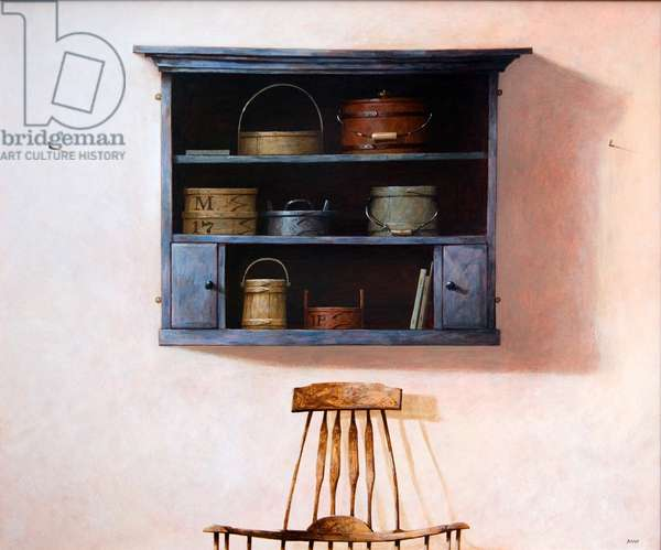 Painted Shelves, 2007 (acrylic on board)