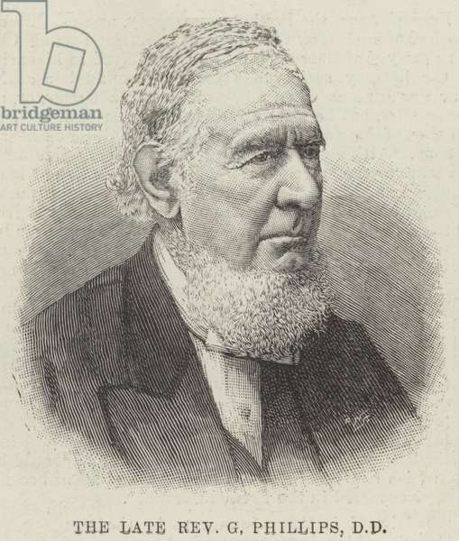The late Reverend G Phillips, DD (engraving)