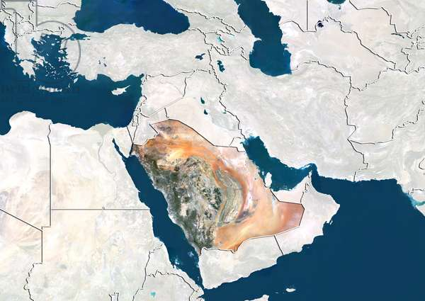 Saudi Arabia, Satellite Image