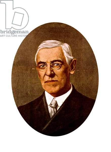 Woodrow Wilson (1856-1924) american president in 1913-1921
