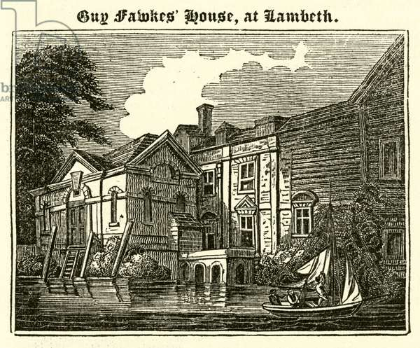 Guy Fawkes' House, at Lambeth (engraving)