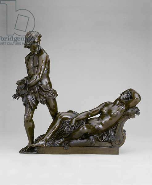 Bireno and Olimpia, 1640-50 (bronze, traces of red-gold lacquer)