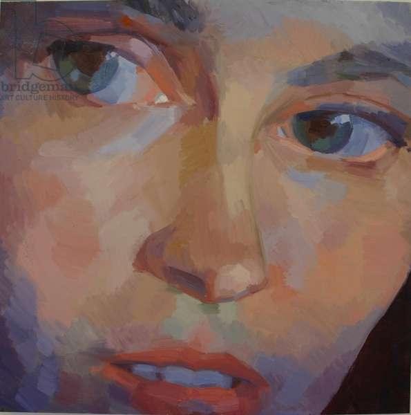 'Eye Am 9', 2010, (oil on primed aluminium)