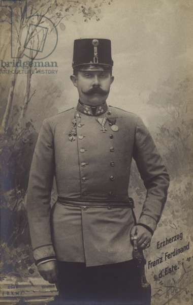 Archduke Franz Ferdinand of Austria (b/w photo)