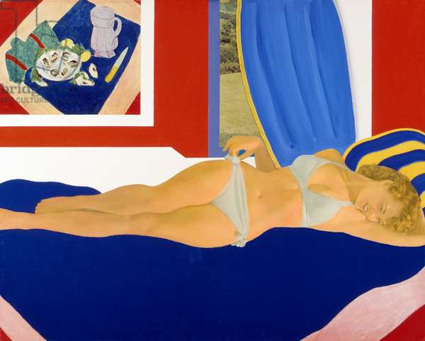 Great American Nude #36, 1962 (enamel & polymer paint and collage on composition board)