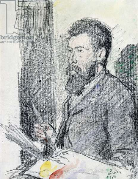 Portrait of Georges Seurat (1859-1891), 1888 (charcoal and watercolour on paper)