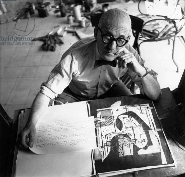 Charles Le Corbusier, c.1953 (b/w photo)