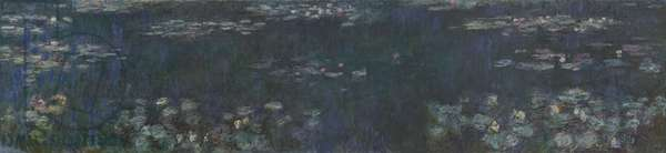 The Water Lilies - Green Reflections, 1914-26 (oil on canvas)