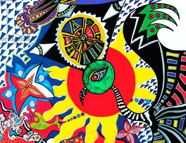 The Phoinix, 2008 (acryl on paper)