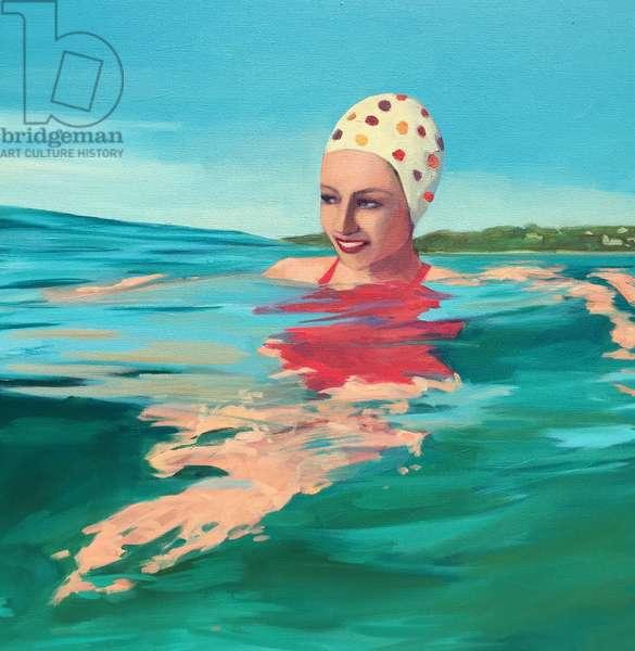 Pretty Swimmer, 2017, (oil on canvas)