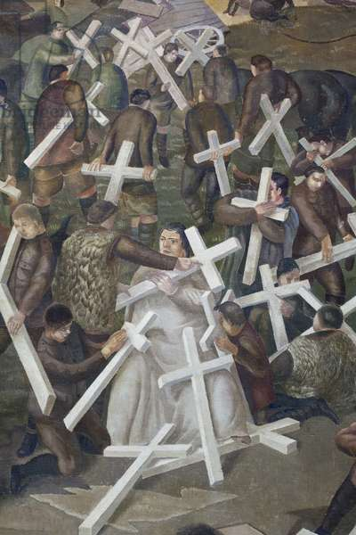 The Resurrection of the Soldiers, 1928-29 (oil on canvas)