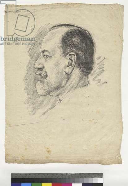Portrait of Sigmund Freud, 1914 (ink on tissue paper)