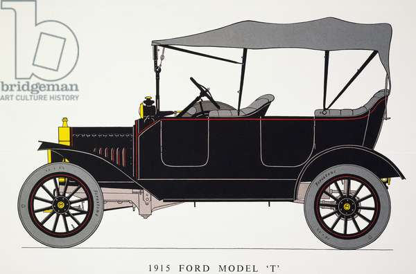 AUTO: MODEL T FORD, 1915 Model T Ford with touring body, 22 HP.
