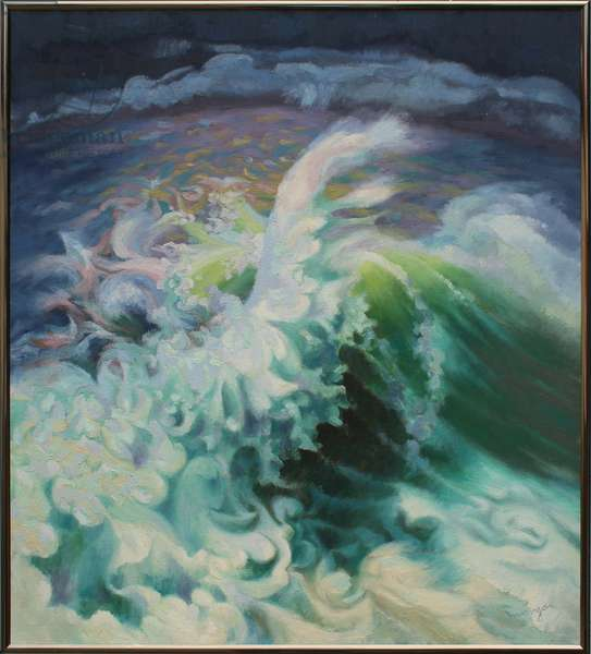 From the Atlantic (oil on canvas)