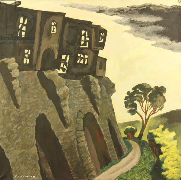 The Fortress in the Ciy of Tallinn, 1974 (tempera on paper)