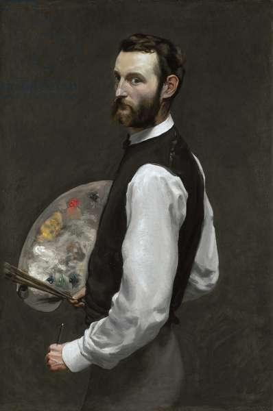 Self portrait, 1865-66 (oil on canvas)