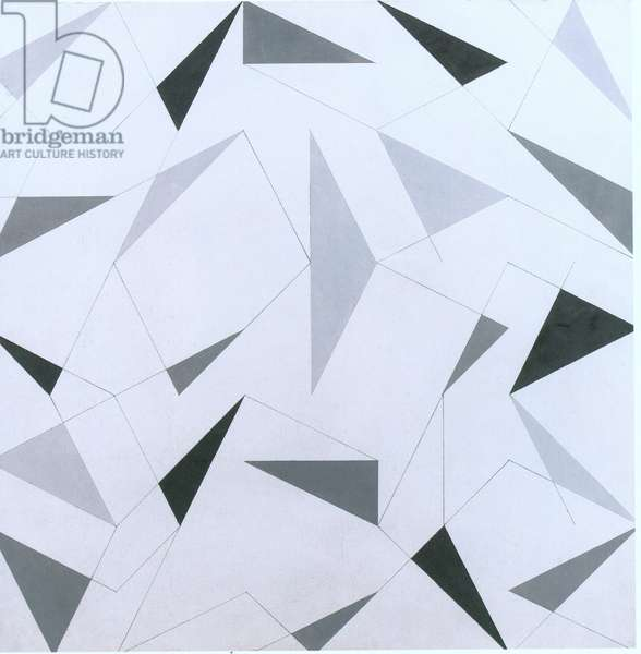 Composition with grey triangles (litho)