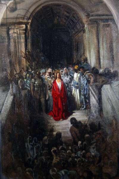 Christ leaving the Praetorium (oil on canvas)