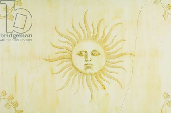 A delicate sun decoration, 1938-39 (wall painting)