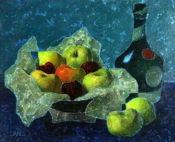 Still Life - Benedictine Bottle (oil on canvas)